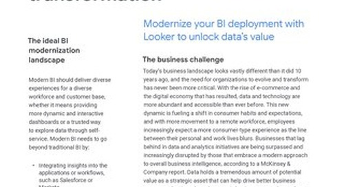 BI Modernization Solution Brief