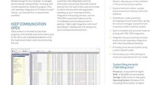 Trimble Time and Material Billing Datasheet