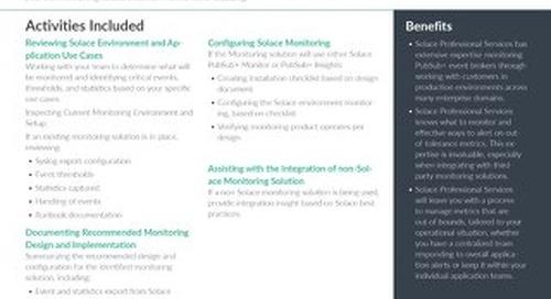 Monitoring PubSub+   Professional Services