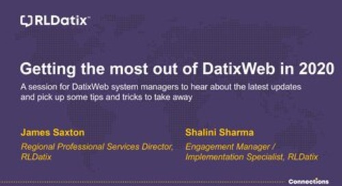 View Presentation: DatixWeb Tips & Tricks Session