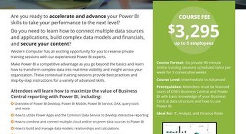 Power BI Advanced Training Course