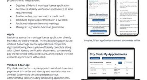 Solution Brief: Online Marriage License App