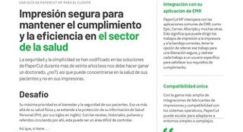 PaperCut Healthcare Compliance en Español
