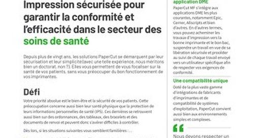 PaperCut Healthcare Compliance en Français