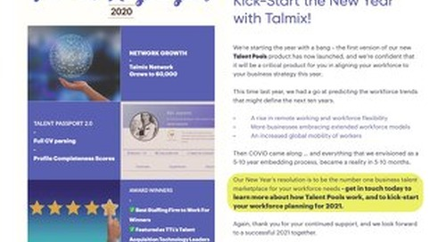 Talmix Newsletter (Jan 21)