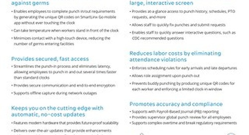 SmartLinx Advanced Timeclock for Employees (SLATE)