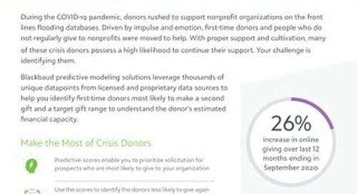 DATASHEET: Converting Crisis Donors with Predictive Modeling