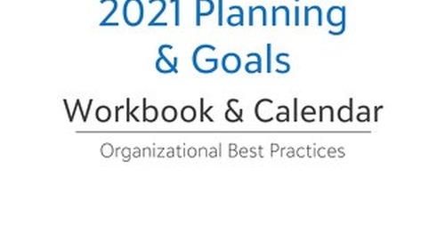 2021 Planning & Goals: Workbook and Calendar