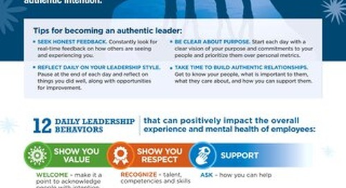 Leadership Behaviours to Support Mental Health