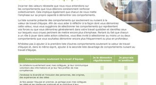 Liminal Teamwork Checklist (French)