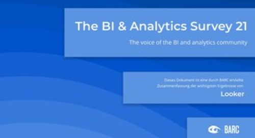 BARC: The BI & Analytics Survey 21 (Deutsche)