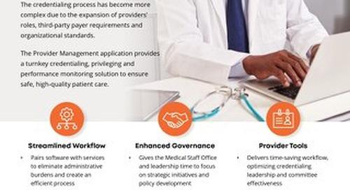 Provider Management