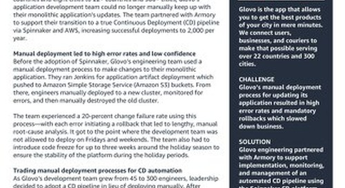 Armory and AWS Glovo Case Study