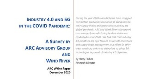 Industry 4.0 and 5G in the COVID Pandemic