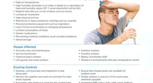 Job Aid - Working in Hot Environments