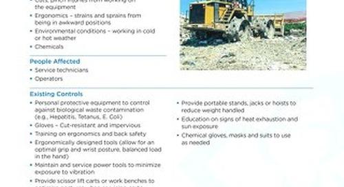Job Aid - Servicing of Landfill Compactors