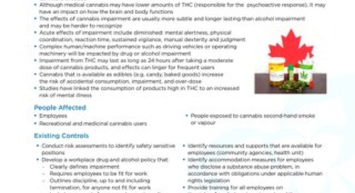 Job Aid - Cannabis and Impairment in the Workplace