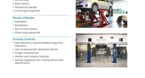 Job Aid - Vehicle Lifting Devices