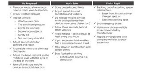Safety Check: Motor Vehicle Safety