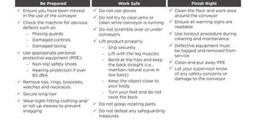Safety Check: Conveyor System Safety