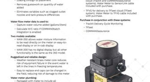 TrackIt Water Add Meter Spec Sheet