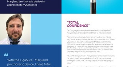 Experience Paper: LigaSure™ Maryland Jaw Thoracic Device, Dr. Congregado