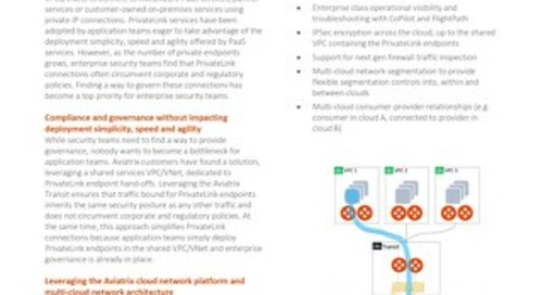 Aviatrix Multi-Cloud Private Link TechBrief