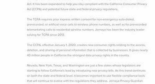 Jornaya Privacy Guardian Datasheet