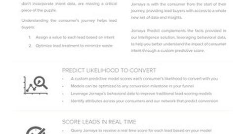 Jornaya Predict Datasheet