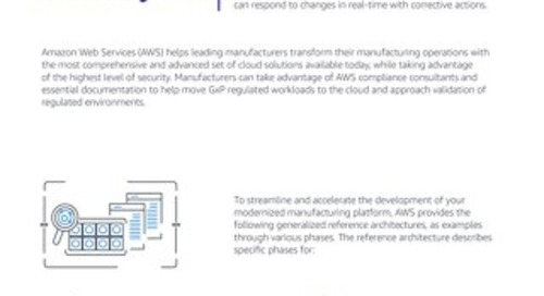 Modernizing Life Science Manufacturing Using AWS Services