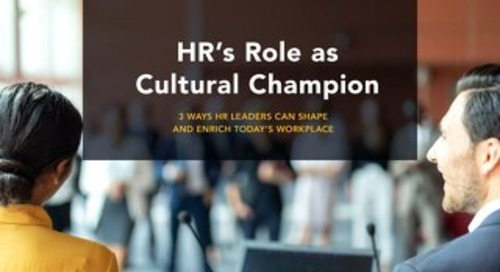 HR's Role as Cultural Champion