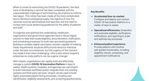 Solution Brief: COVID-19 Vaccination Platform