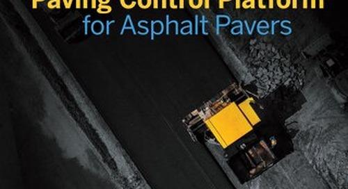 Trimble Roadworks Paving Control Platform for Asphalt Pavers Datasheet - English