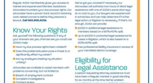 ACSA Legal Support Flyer