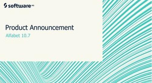 Alfabet 10.7 Product Announcement