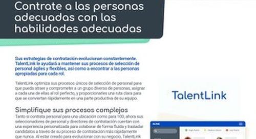 TalentLink: Contrate a las personas adecuadas con las habilidades adecuadas