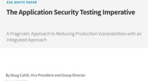 ESG - The Application Security Testing Imperative