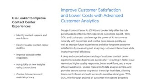 Deliver Better Contact Center Experiences With Google CCAI and Looker