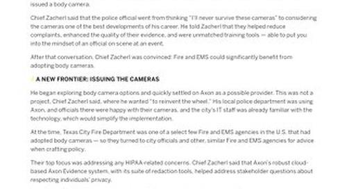 Axon - Texas City Fire Department Case Study