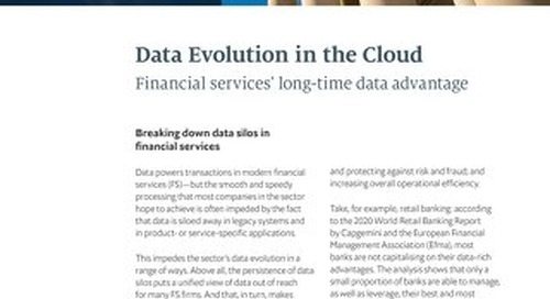 Data's Evolution in the Cloud: Financial Services' Long-Time Data Advantage