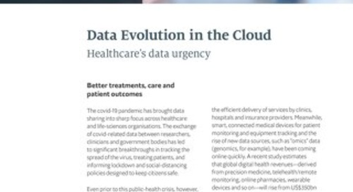 Data's Evolution in the Cloud: Healthcare's Data Urgency