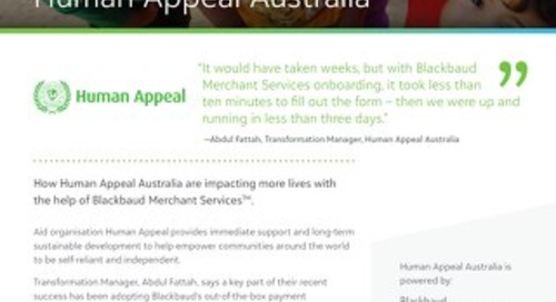 Customer Spotlight: Human Appeal Australia