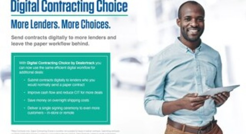 Digital Contracting Choice User Guide
