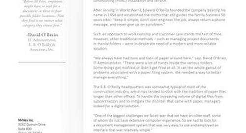 Case Study: E. B. O'Reilly & Associates