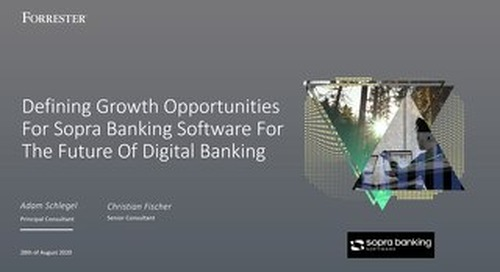 Defining Growth Opportunities For Sopra Banking Software For The Future Of Digital Banking