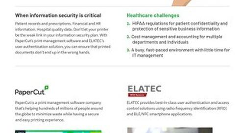 Papercut Healthcare Solutions Brochure Elatec