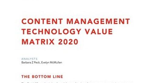 Nucleus Research Technology Value Matrix for Content Management 2020