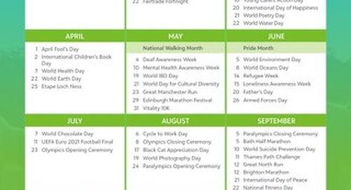 2021 Key Giving Dates Calendar