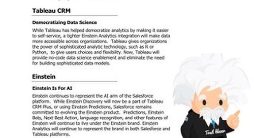 Tableau CRM - The new face of Einstein Analytics