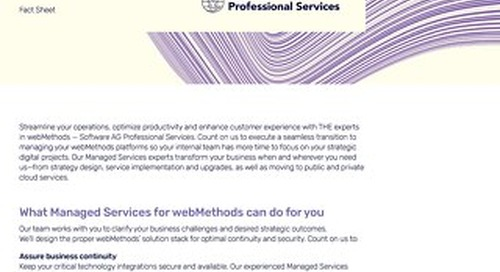 Managed Services for webMethods